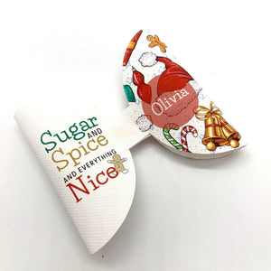 Sugar and Spice Custom Bow Loop