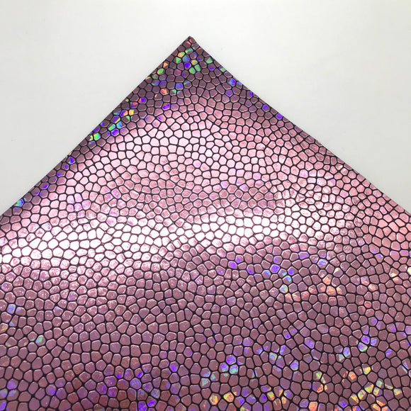 Pink Rainbow Reptile Scales Leatherette Sheet