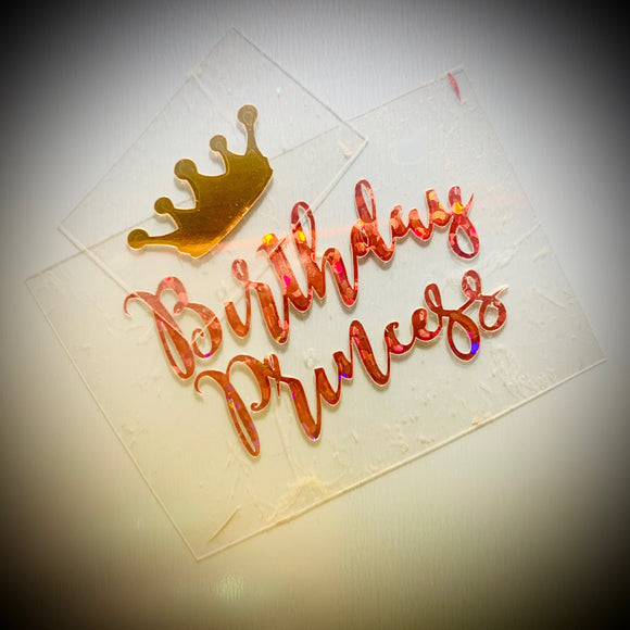 Vinyl 'Birthday Princess' with Crown