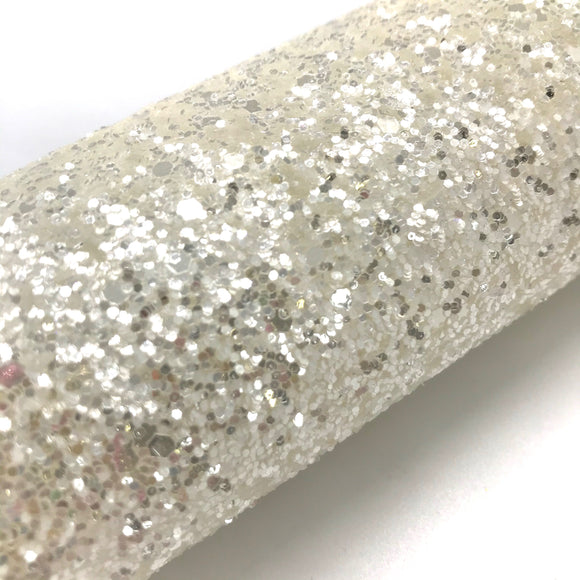 Pearly White Luxury Chunky Glitter