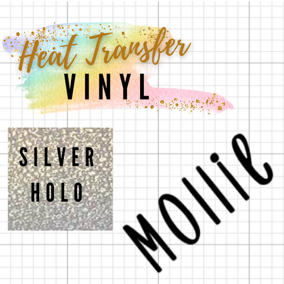 Silver Holographic HTV Words / Names