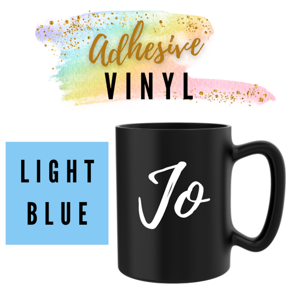 Light Blue Adhesive Words / Names
