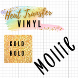 Gold Holographic HTV Words / Names