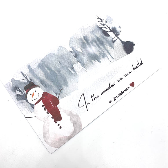 Limited Edition Snowman Christmas Bow Display Card