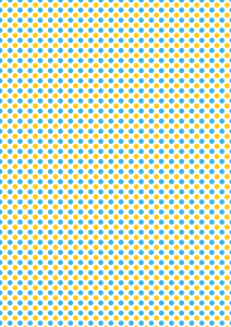 Large Yellow and Blue Polka Dots