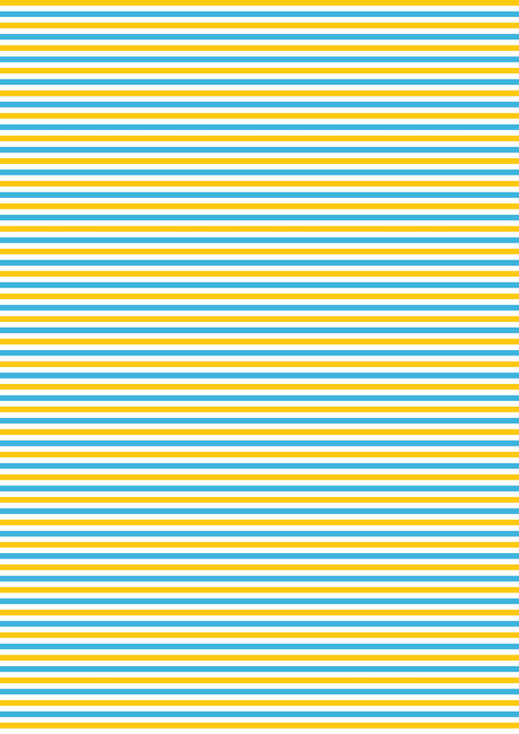 Mustard and Blue Stripes