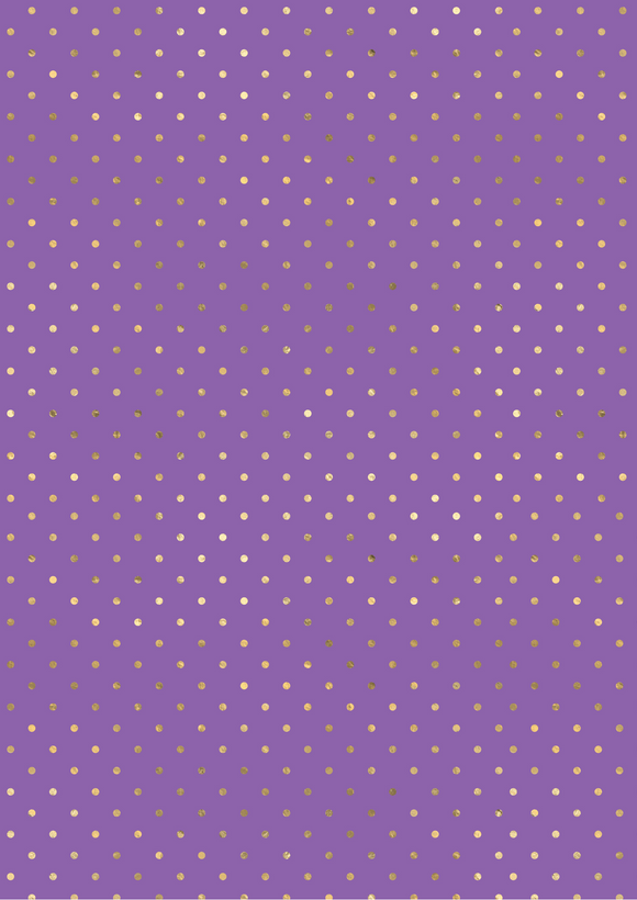 Purple and Gold Polka Dots
