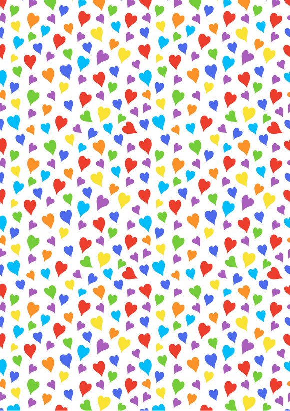 Bright Rainbow Hearts