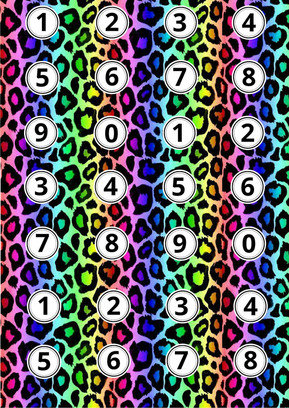 Rainbow Leopard Print Ages