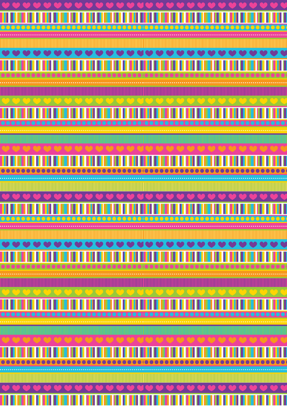Rainbow Multi Patterned Stripe