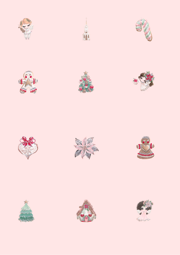 Rose Gold Christmas Countdown Pictures