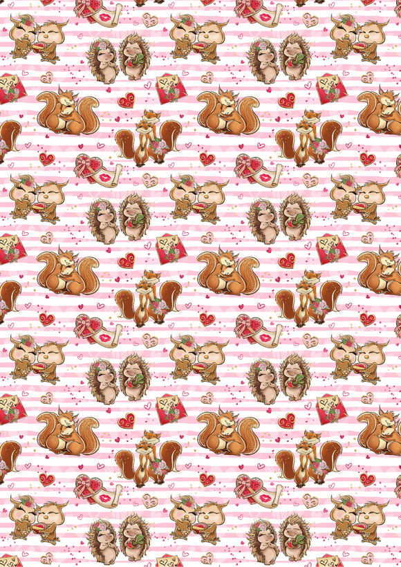 Striped Valentines Animals