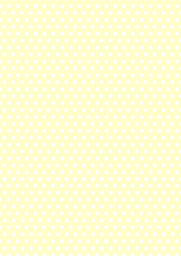 Pale Yellow and White Polka Dots