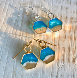 Ocean Soul Memory Earrings sand and ashes memorial jewellery Noosa Collective