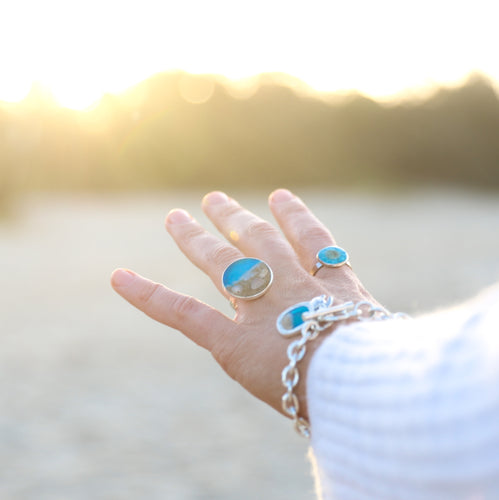 Ocean Gypsy Ring Noosa Collective Sand and Ashes Memorial Memory Jewellery