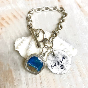 Moments Charm Bracelet made with sand and ashes memorial jewellery beach jewelry gold