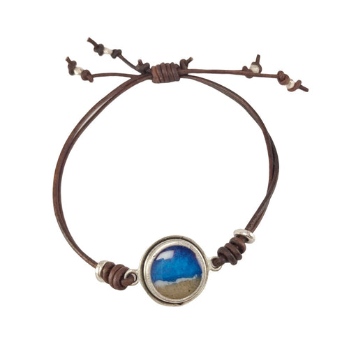 Porthole Leather Bracelet