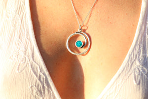 Round the World Pendant Necklace Noosa Collective Sand and Ashes Memorial Jewellery custom made by Noosa Collective