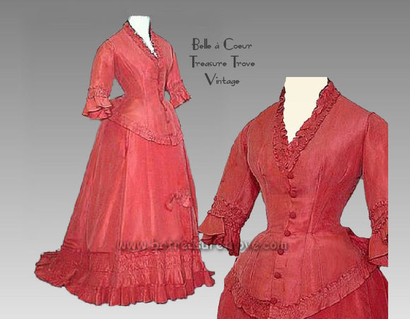 Early 1870s Bustle Gown