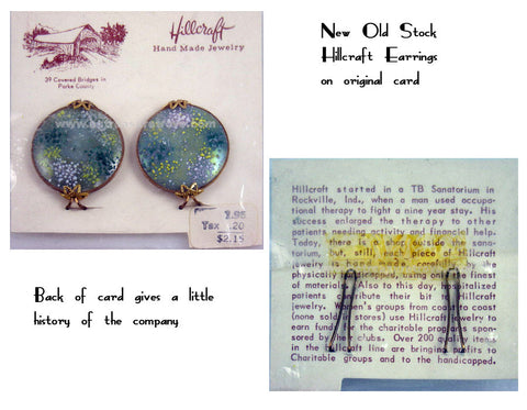 Original Hillcraft earrings on card with price and a bit of company history