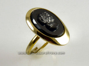 "Sarah Coventry ""Evening Profile"" Vintage Ring"