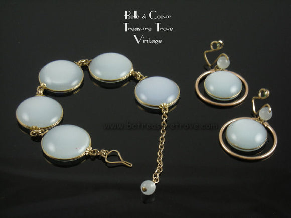 Castlecraft Light Blue Moonglow Set- Bracelet and Earrings