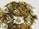 Detail - Joseff of Hollywood Vintage Cherub Cuff Bracelet