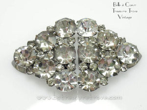 Art Deco Rhinestone Convertible Brooch HUGE