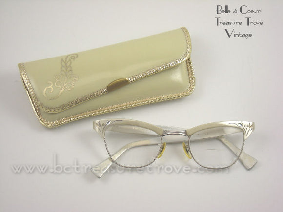 1950s Cat Eye Glasses Vintage American Optical 12k GF11231