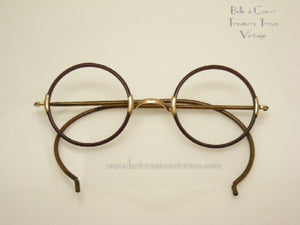 1920s Shuron Round Eye Glass Frame