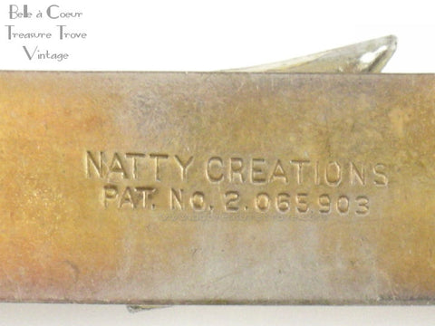 Signature on back of Natty Creations Scarf Clip