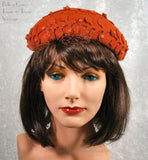 1950s Vintage Hat Burnt Orange