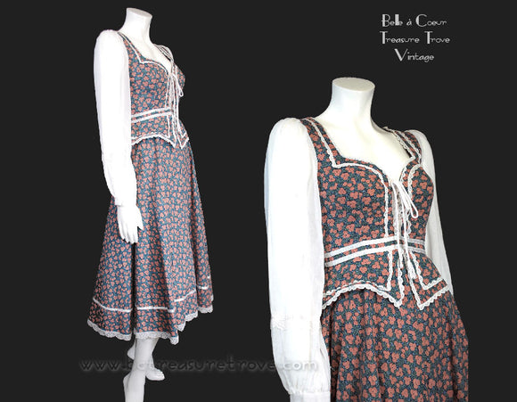 1970s Gunne Sax Prairie Dress