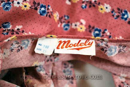 Modely label in 1930s Hostess Gown
