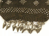 Detail Steel Fringe on One End of Purse
