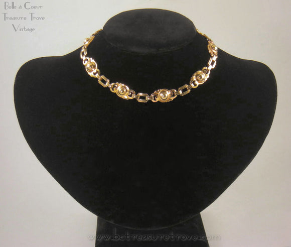Art Deco Gold Fill Choker Necklace Louis Stern