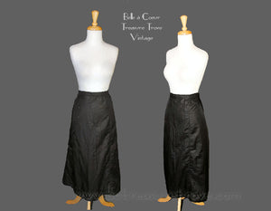 Antique Black Silk Skirt - For Study or Pattern