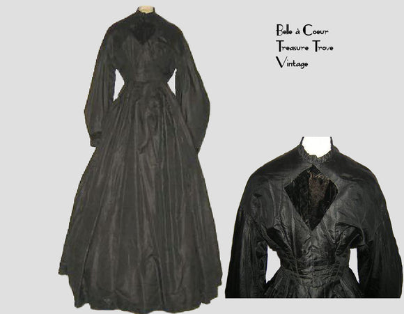 1860s Civil War Era Mourning Dress