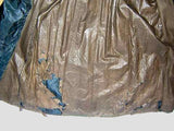 Civil War Era Antique Mourning Dress - Skirt lining tear