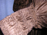 Early Edwardian Belle Epoque Dress - Sleeve Cuff Ruching