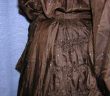 Early Edwardian Belle Epoque Dress - Ruched Detail at Hip