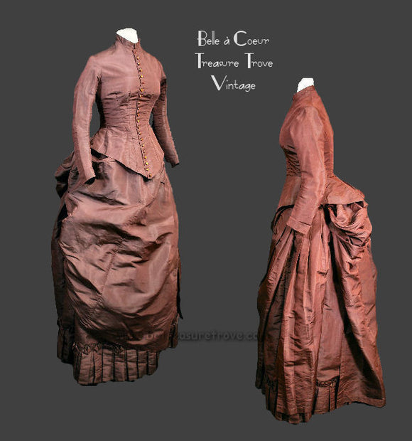 1880s Victorian Bustle Dress