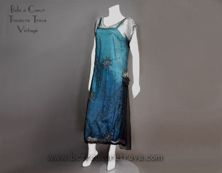 Original 1920s Flapper Evening Dress 1920s