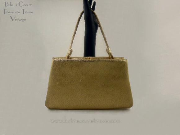 Gold Lamé Vintage Evening Purse After Five
