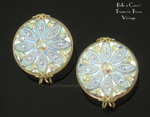 Hillcraft Earrings Frost Opalescent White Aurora Borealis