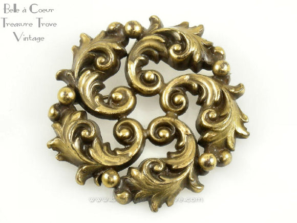 Joseff of Hollywod Russian Gold Brooch Vintage