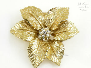 Judy Lee Vintage Poinsettia Brooch
