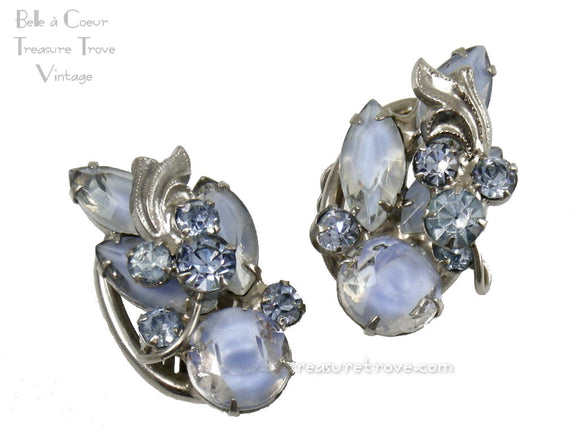 Julilana DeLizza & Elster Blue & White Givre Earrings