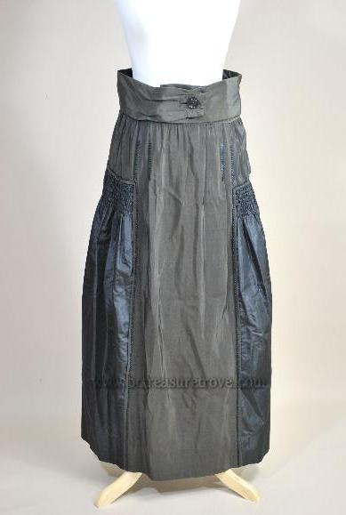 Late 1910s Silk Skirt Side - WWI Armistice Era