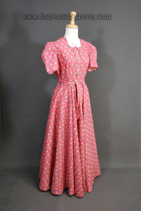 Late 1930s - Early 1940s Dressing Gown, Hostess Dress, Housecoat, Robe